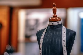 Mannequin used for tailoring with a tailors tape measure